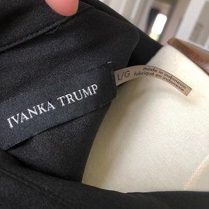 Ivanka Trump Tops - Ivanka Trump black gold button down
